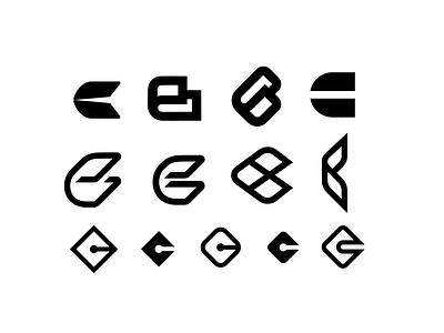 'C' Exploration monogram initial logo identity icon