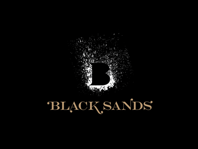 Black Sands Wine branding design logo branding and identity icon wine branding