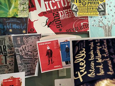 Wall Shot proofs ideas pinups studio mockups posters