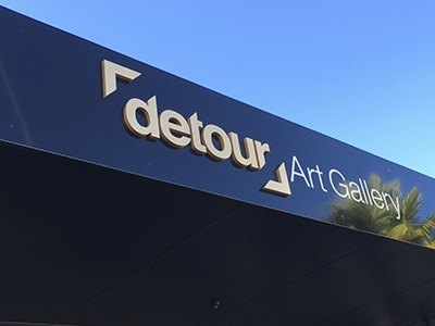Detour Signage 3d signage gallery branding