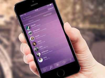 Discover Interface2 app ui ios7 flat iphone graph search design discover ux