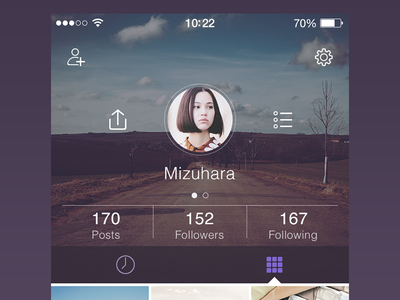 Final Profile app design flat graph ios7 iphone ui ux profile