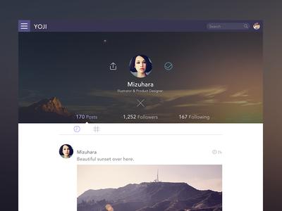 Profile Wip web app profile ui graph design