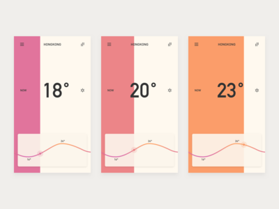 Weather App color ux ui app forecast temperature weather