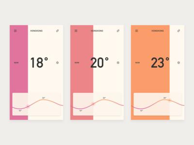 Weather App color ux ui app forecast temperature weather