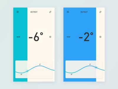 Weather App 2 color ui app forecast temperature weather