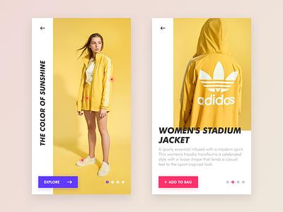 Fashion Store Concept color ui app originals adidas shopping store fashion