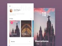 Trip Profile profile plan place app ux ui travel trip