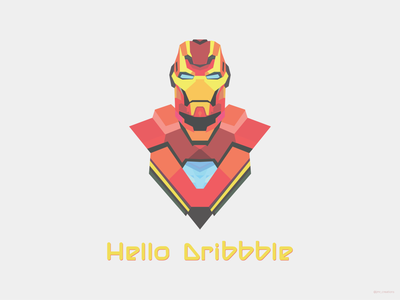 Hello Dribbble adobe illustrator adobe photoshop illustrator mcu tonystark comic vector vectorart avengers endgame comic art marvel avengers iron man hello dribble