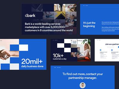Deck — Bark clean typography design informercial documents pdf ppt presentation deck