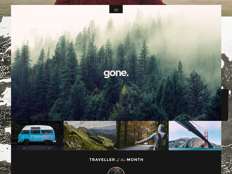 gone. app iphone mobile web site ui ux photography responsive button design