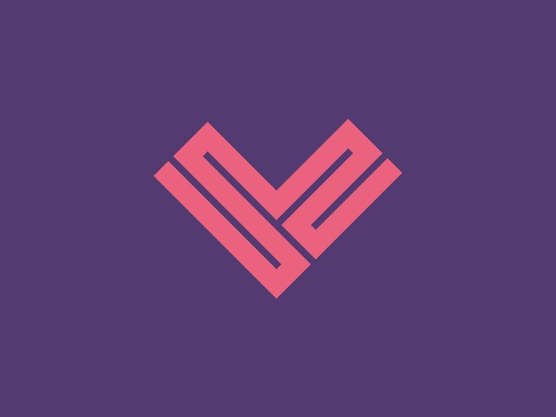 #Typehue: L —Linear Love pink purple symbol l letter typehue