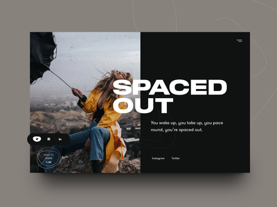 SPACEDOUT share social dailyui poster web vector ui typography sketch mobile minimal logo illustration graphic design design clean