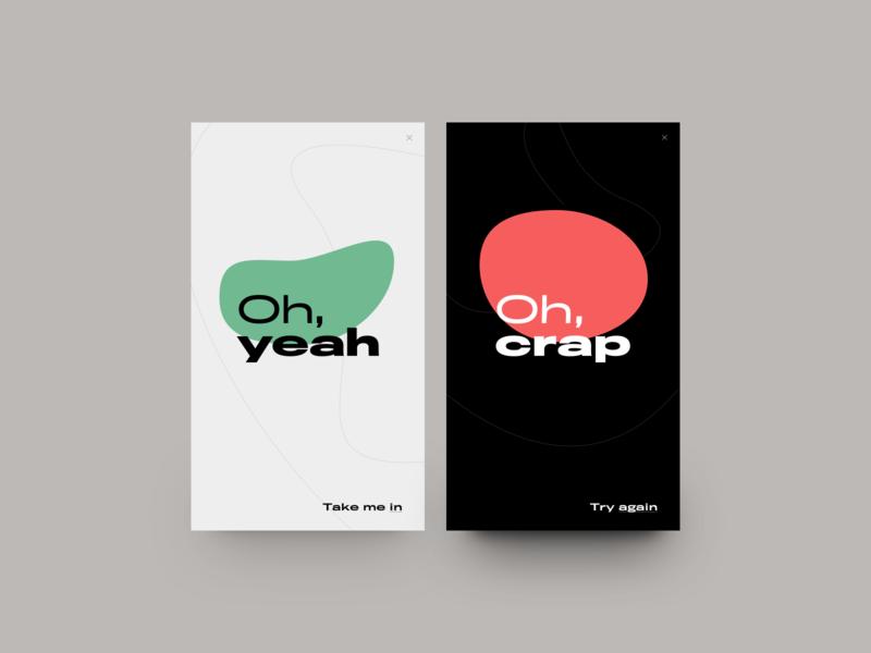 OH. clean design graphic design illustration logo minimal mobile sketch typography ui vector web poster dailyui social share