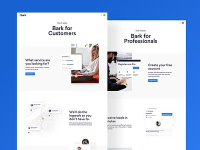 Bark —How it works branding minimal sketch mobile ux clean typography design web ui
