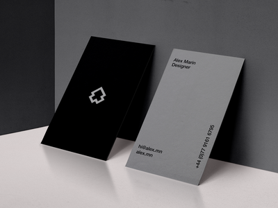 AM Cards minimal clean typography design stationery design mockup contact logo identity cards business stationery