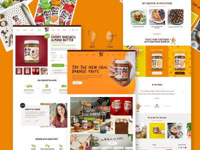 Pip & Nut   Shopify Store online store peanut butter shopify responsive illustration website layout minimal homepage ux ui