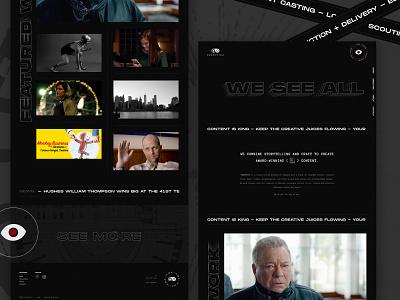 Panoptica design ui ux responsive web film filmmaker branding portfolio site website clean homepage