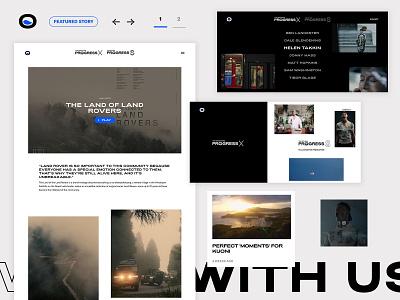 Progress Films web ux design minimal responsive grid website layout clean portfolio homepage