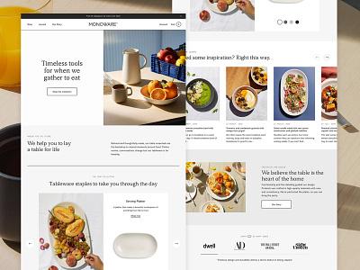 Monoware grid layout branding website web responsive minimal clean homepage ui