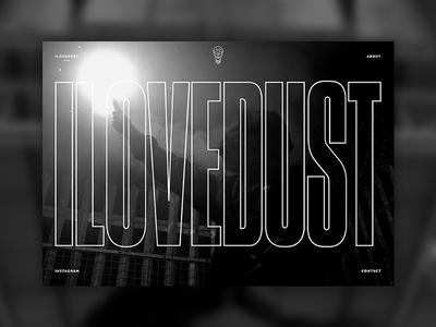 ilovedust ilovedust digital illustration black and white responsive landing page type video minimal website ui homepage