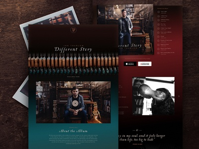 Jon Thurlow   Different Story jon thurlow artist album piano band music homepage one page ux ui web design website