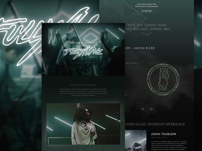 Fully Alive   Forerunner Music site christian web band music homepage one page ux ui web design website
