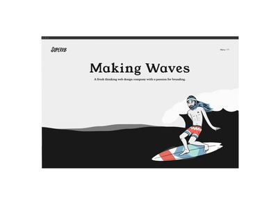 Superrb   Website & Rebrand identity website animation interaction branding surfer illustration homepage website design rebrand web design