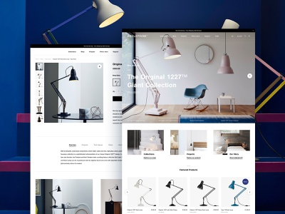 Anglepoise 💡 typography animation magento 2 shopify hero whitespace store commerce responsive branding design web layout ux minimal ui logo website clean homepage