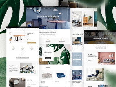 Vênoor animation icons illustration website interior design furniture whitespace layout web magento 2 shopify plus responsive commerce brand store minimal clean homepage ui ux