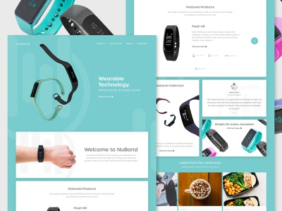 Nuband Watches   Homepage fitness watch fitness website digital watch watch website apple watch nuband web clean minimal homepage ux ui