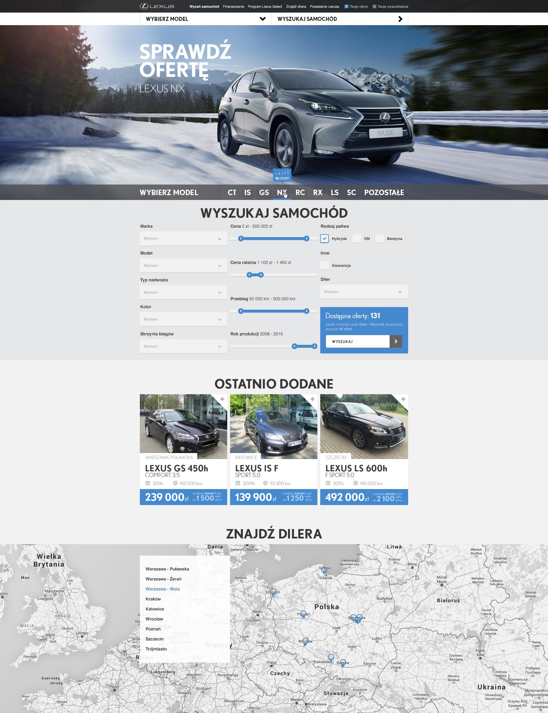 960 lexus uzywane homepage active
