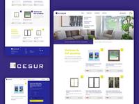 Cesur outlet webshop ecommerce cesur windows white yellow purple shop outlet website spain