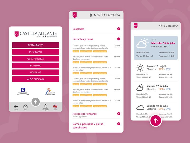 Hotel Castilla guests app spain covid application guests alicante castilla hotel