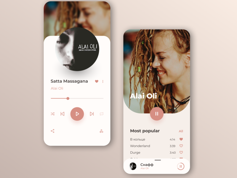 Music player mobile app design player ui music player music