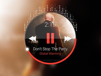 Android music widget