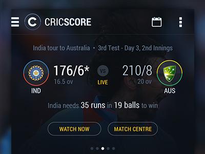 Cricket Score App v2