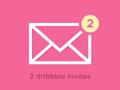 2 Dribbble Invitation