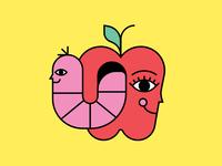 Apple & Worm BFF
