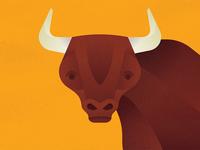 It's A Portrait of A Bull