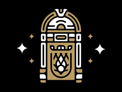 Magic Jukebox vector illustration icon logo music jukebox