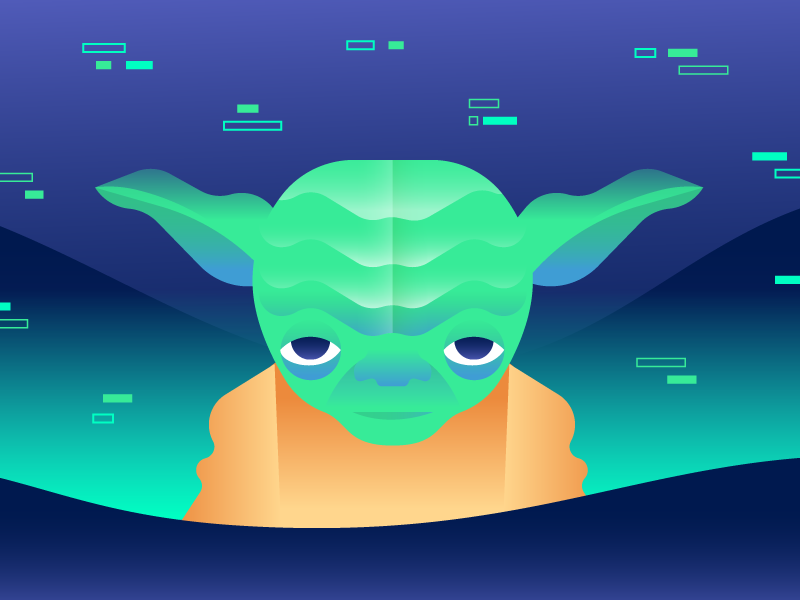 May the Fourth Be With Us may the fourth be with you gradient vector illustration yoda star wars