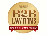 B2B Law Firms: 2014 Honorees Logo
