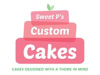 Sweet P's Custom Cakes logo