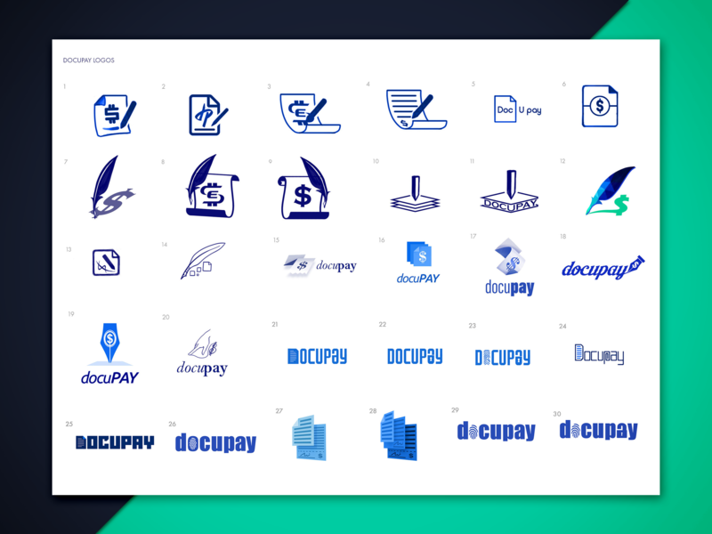 docupay logo proposal sketches wordmarks signature sign pen document sketches logo photoshop illustrator