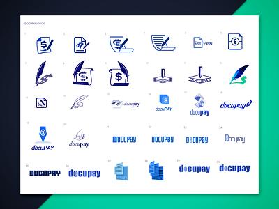docupay logo proposal sketches wordmarks signature sign pen document sketches logo photoshop illustrator
