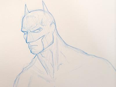Batman Sketch batman sketch blue pencil