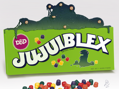 Jujuiblex™ brand abyssal slime mold candies ipad dungeons and dragons dnd apple pencil procreate digital art digital painting drawing illustration art