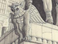 Gargoyle closeup