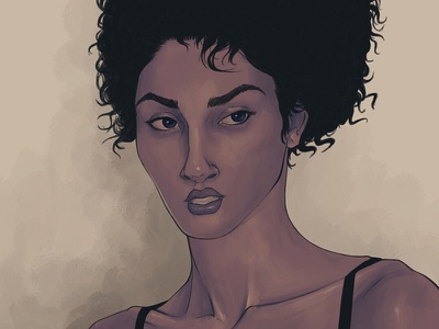 Female Portrait procreate digital painting portrait female